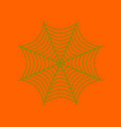 Flat on background of spider web vector