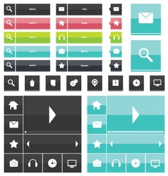 Web elements and icons flat design vector image