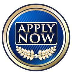 Apply now blue label vector