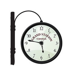 Vintage railway station clock vector image
