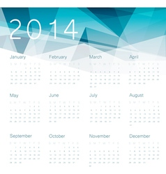 Abstract calendar 2014 vector