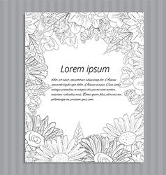 Floral hand-drawn wedding invitation vector