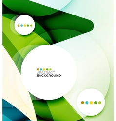 Flowing shapes fresh business template vector