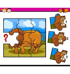 Kindergarten task for children vector