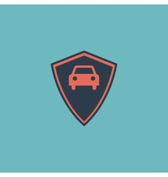Vehicle shield flat icon vector