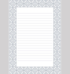 Blank for letter card or charter white paper vector