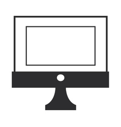 Simple computer icon vector