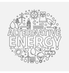 Alternative energy round vector image