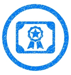Award diploma rounded icon rubber stamp vector