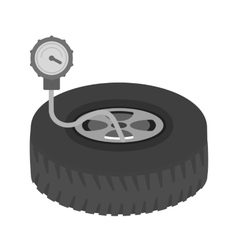 Checking tyre pressure vector