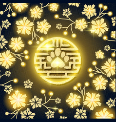 Chinese lunar 2018 year card with dog paw symbol vector