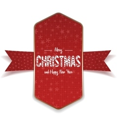 Christmas realistic big red and gold Banner vector image vector image