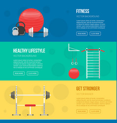 fitness training and gym club banners vector image vector image