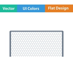 Flat design icon of football gate vector image vector image