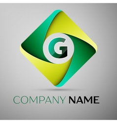 G letter colorful logo in the rhombus template for vector