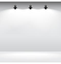 Gallery interior template vector image