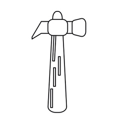 Hammer tool steel wooden icon outline vector