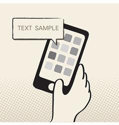 HandPhone vector image