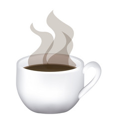 image color with hot cup of coffee close up vector image