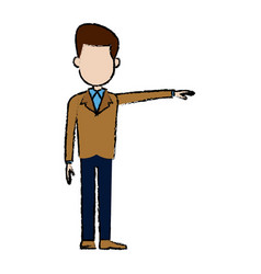 man standing male character people image vector image
