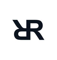Overlapped initial letter logo logotype theme art vector