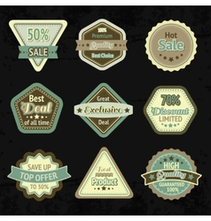 Sale labels and badges design set vector image