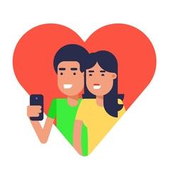Selfie couple 2 vector