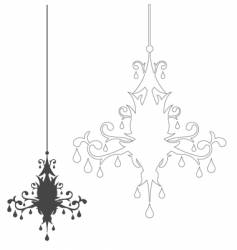 Simple chandelier vector