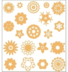 simple flower elements vector image vector image