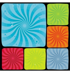 swirl backgrounds series vector image
