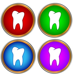 Tooths set vector image