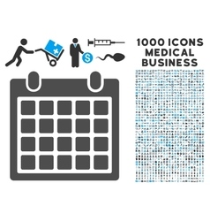 Calendar icon with 1000 medical business vector