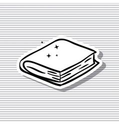 Close book and literature design vector