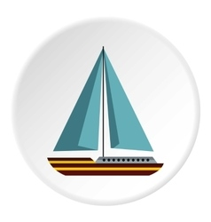 Sea yacht icon flat style vector