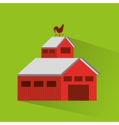 Stable farm building icon vector