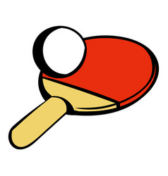 racket for playing table tennis icon icon cartoon vector image