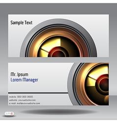 Lens business card vector
