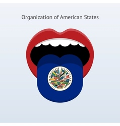 Organization of american states language vector