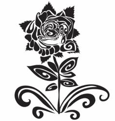 Tattoo of a rose vector