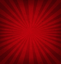 Red retro sunburst paper vector