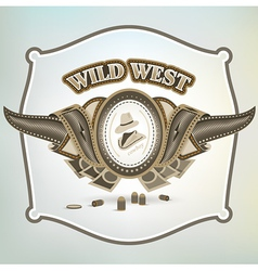 Wild west cowboy element emblem vector