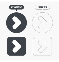 Arrow sign icon next button navigation symbol vector