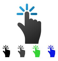 Finger click flat gradient icon vector