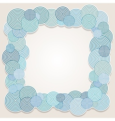 Frame of circles vector image vector image
