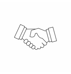 Handshake icon in outline style vector