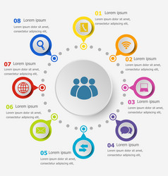 infographic template with communication icons vector image vector image