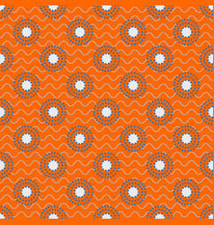 japanese circles pattern in blue and orange colors vector image vector image