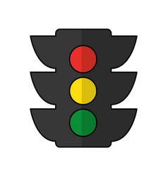Light traffic isolated icon vector