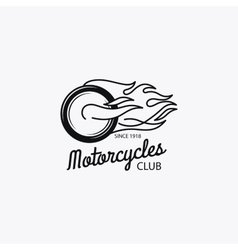 Motorcycle club mono color logotype vector image