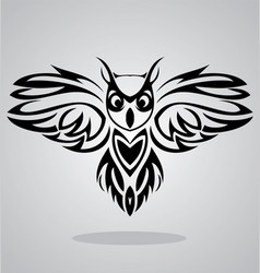 Owl bird tribal vector
